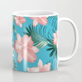Tropical Flowers Palm Leaves Finesse #8 #tropical #decor #art #society6 Coffee Mug