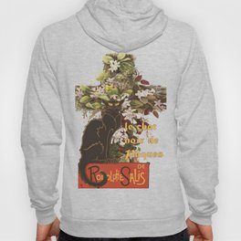 Easter Le Chat Noir de Paques With Floral Cross Hoody
