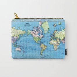 Mercator Map of Ocean Currents Carry-All Pouch
