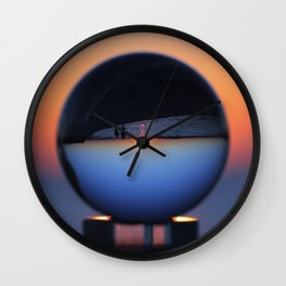 Crystal Ball Blue Hour Wall Clock