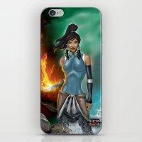 korra iPhone & iPod Skins featuring Korra by Steven H. Garcia