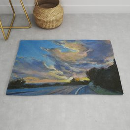 The Road to Sunset Beach Rug