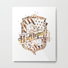 Hufflepuff Crest Metal Print