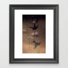 Hummingbird Galaxy Framed Art Print