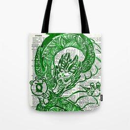 The Jade Dragon (Green Lantern: Kyle Rayner) Tote Bag