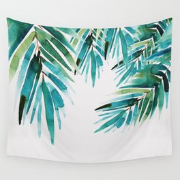 Under palm trees Wall Tapestry