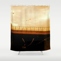 road Shower Curtains featuring road by gasponce