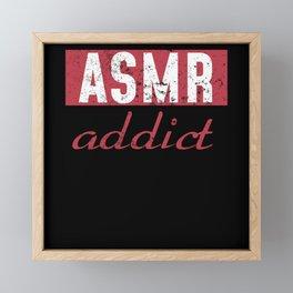 ASMR Addicted Framed Mini Art Print