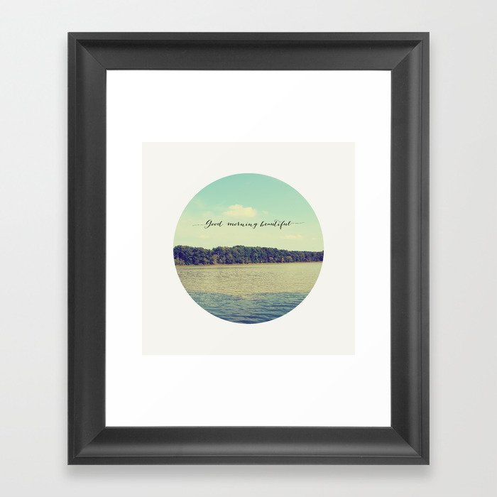 Good Morning Beautiful Nature Photograph Framed Art Print By