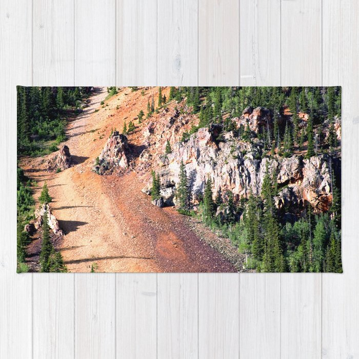 Gold Mine Tailings Slide Rug