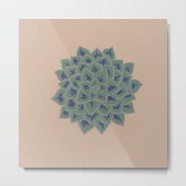 Succulent (Sand) Pattern Metal Print