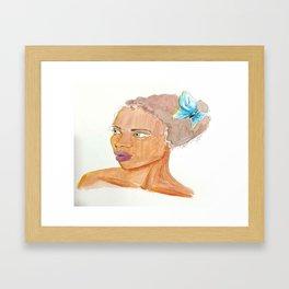 Little Blue Friend Framed Art Print