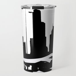 City Scape in Black and White Travel Mug
