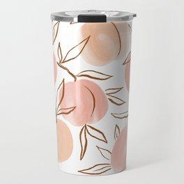 Watercolor peach Travel Mug