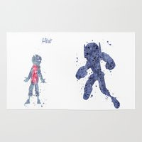 big hero 6 Area & Throw Rugs featuring Hiro Hamada Big Hero 6 by Carma Zoe