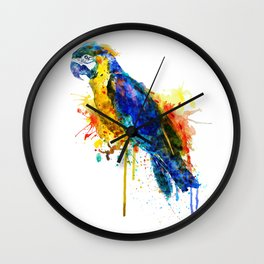Parrot Watercolor Wall Clock