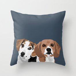 Lucy and Rocco Throw Pillow