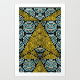 Sacred Geometry - Octahedron Air Art Print
