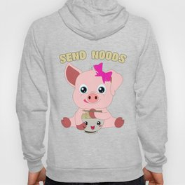 Send Noods Pig Kawaii Ramen Noodle Lover Hoody