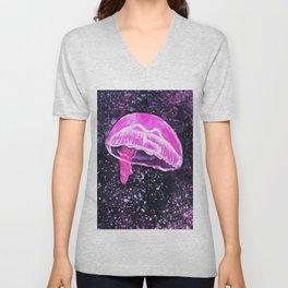 Jellyfish (purple) Unisex V-Neck
