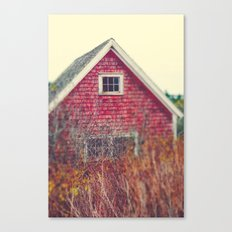 Red Coastal Cottage Canvas Print