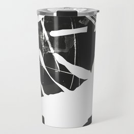 Monstera Leaf Black Travel Mug