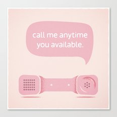 Call Me. Canvas Print