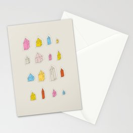 Transparent Houses Stationery Cards