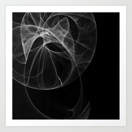Life's a Dance in Black and White Art Print