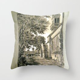 Albert Tissandier - South Side of Loctudy Church (1876) Throw Pillow