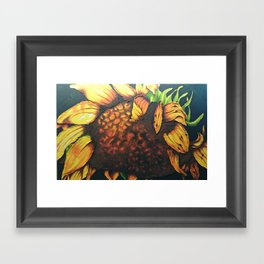 Sunflower Painting in Acrylic Framed Art Print