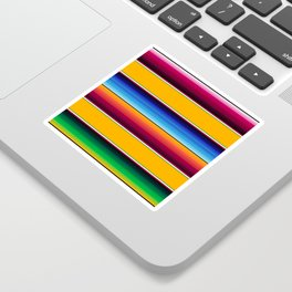 Traditional Mexican Serape in Yellow Multi Sticker