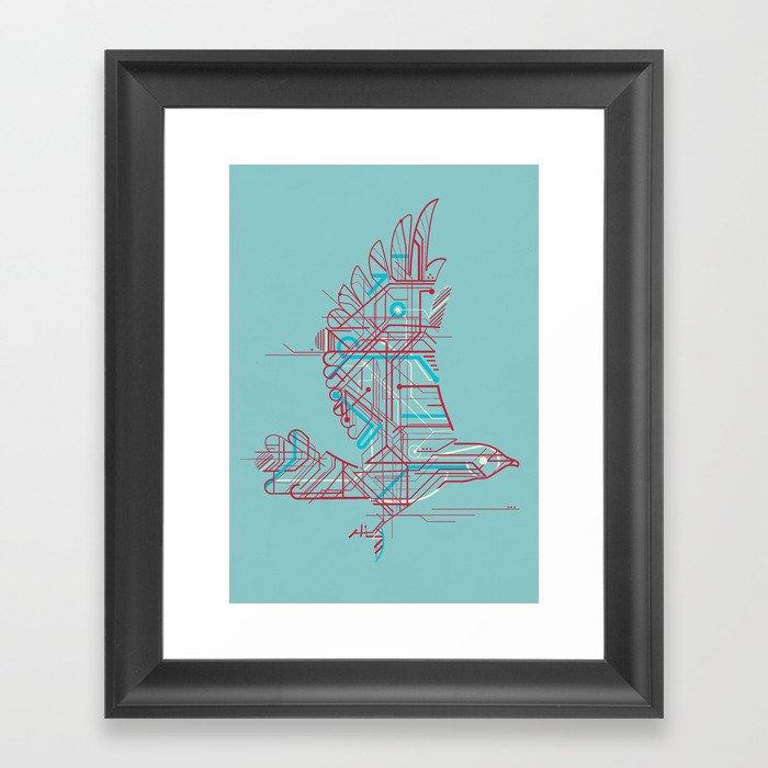 Wind-Up Bird (light) Framed Art Print