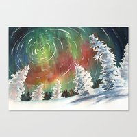 northern lights Canvas Prints featuring Northern Lights by Dana Martin