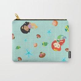 Cute Mermaid- Seafoam Blue Carry-All Pouch