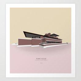 Robie House Frank Lloyd Wright Art Print