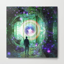 Forest Orb Metal Print