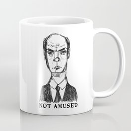 Not Amused (With Text) Coffee Mug