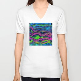 Zapped Unisex V-Neck