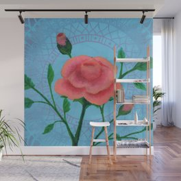 Roses Are Peach Wall Mural