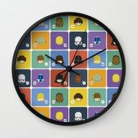 starwars Wall Clocks featuring StarWars quotes by Thiago Grossmann