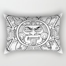 Pencil Wars Shield Rectangular Pillow