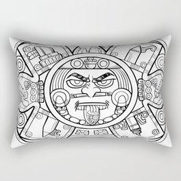Pencil Wars Shield Rectangular Pillow