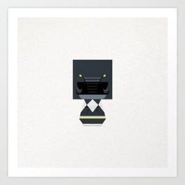 THE BLACK Art Print