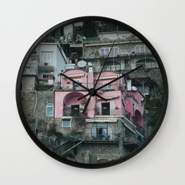 Colorful Cliffside Home Wall Clock