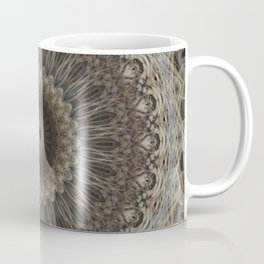Mandala in warm brown and gray tones Coffee Mug