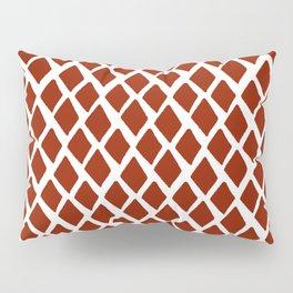 Rhombus Red And White Pillow Sham