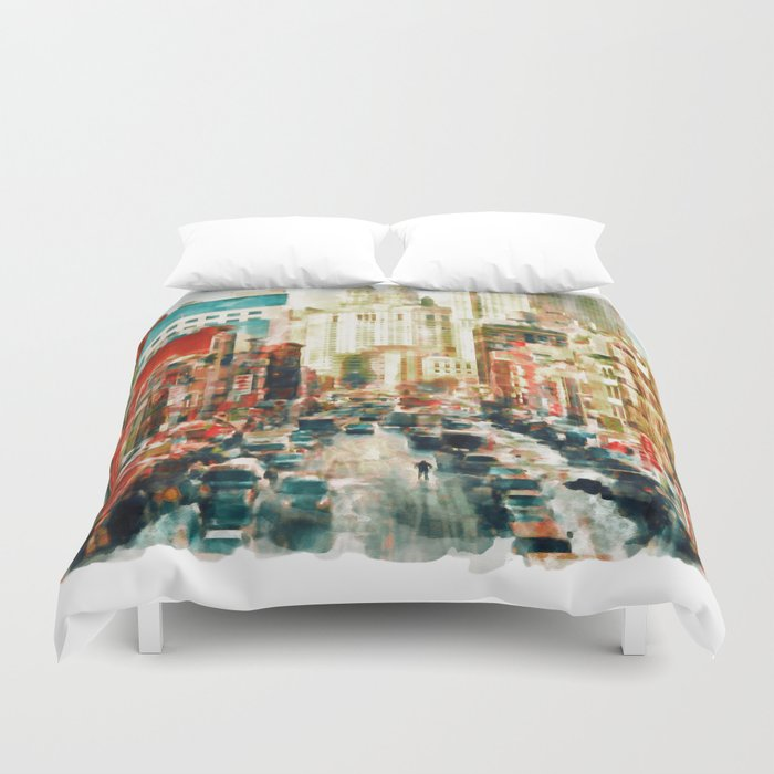 Winter In Chinatown New York Duvet Cover By Marianvoicu Society6