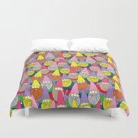 gnome Duvet Covers featuring Mister Gnome by Lydia Meiying