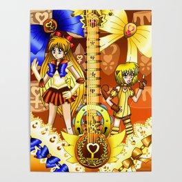 Sailor Mew Guitar #25 - Sailor Venus & Mew Pudding Poster
